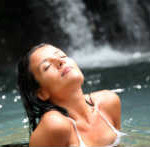 Sensual woman in water