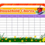 household chores list