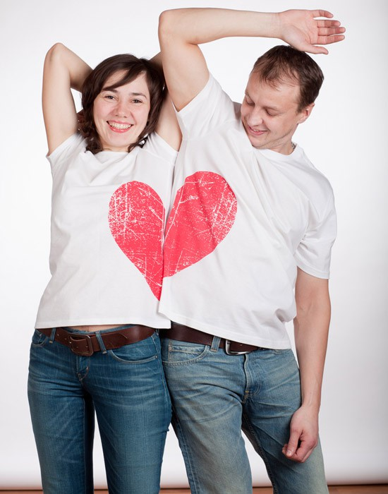 Couple In Heart Shirt